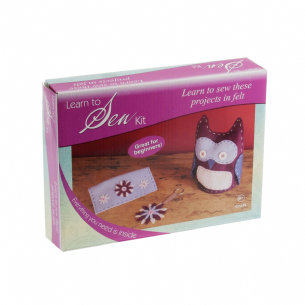 CF201 Learn To Sew Kit - Owl, Purse & Flower Key Ring